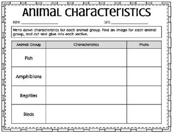 Animal Classification- Printable