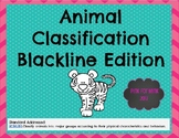 Animal Classification- Printable