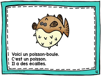 Animal Classification Reader in French - Les poissons