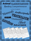 Animal Classification Reading Comprehension