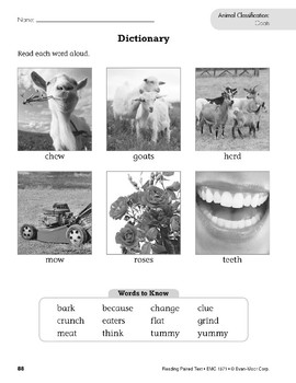 Animal Classification (Reading Paired Text)