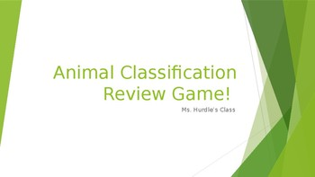 Animal Classification Review Game