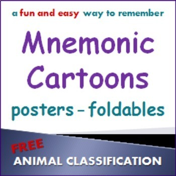 Animal Classification:  Sample Mnemonic Cartoon Posters and Foldables