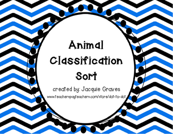Animal Classification Sort