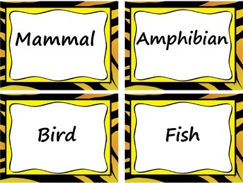 Animal Classification Sort Lesson: Characteristics, Real Pictures - 54 cards