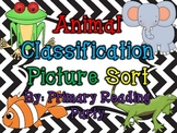Animal Classification Sort {Mammals, Reptiles, Amphibians,