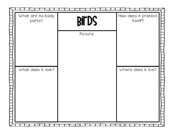 Animal Classification Unit and Graphic Organizers
