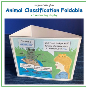 Animal Classification: Vertebrate Mnemonic Cartoon Foldables