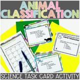 Animal Classification Task Cards   Vertebrate and Inverteb