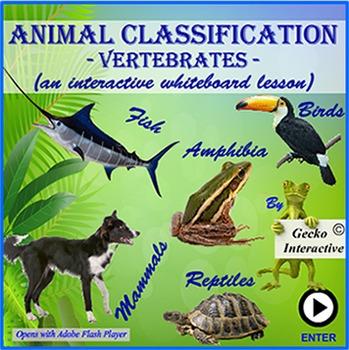 Animal Classification: Vertebrates -  for the SmartBoard/I