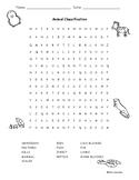 Animal Classification Word Search / Clasificacion de Anima