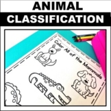 Animal Classification Worksheets and Anchor Charts