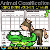Animal Classification Worksheets | Cut and Paste