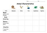 Animal Classification Writing Templates