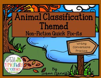 Writing Sentences - Non-Fiction Animal Classification themed - Quick Fixes