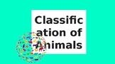 Animal Classification (vertebrates and invertebrates) Presentation