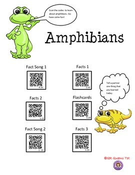 Animal Classification Bundle using QR Codes Listening Center