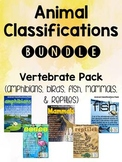 Animal Classifications BUNDLE - 5 Groups of Vertebrates