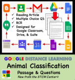 Animal Classifications - Google Doc - Article & Questions Distance Learning
