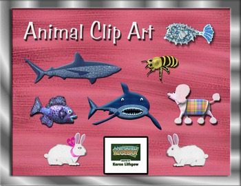 Animal Clip Art 3D with Textures