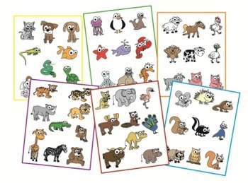 Animal Clip Art - 55 color images!