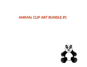 Animal Clip Art Bundle 1