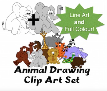 Animal Clip Art Collection for Teachers Pictures for Use in Assignments
