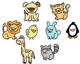 Animal Clip Art - Colored
