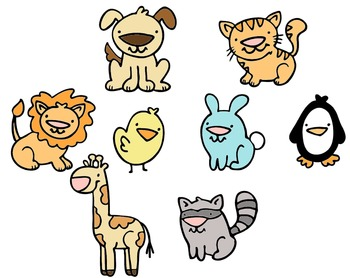 Animal Clip Art - Colored