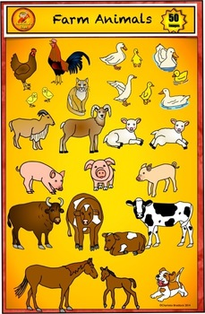 Animal Clip Art - Farm Clip Art Set by Charlotte's Clips