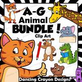 Animal Clip Art / Letters A - G BUNDLE / Alphabet Animals Series