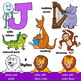 Animal Clip Art / Letters H - N BUNDLE / Alphabet Animals Series