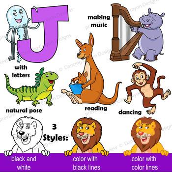 Animal Clip Art / Letters H - N BUNDLE / Alphabet Animals Series