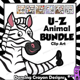 Animal Clip Art / Letters U - Z BUNDLE / Alphabet Animals Series
