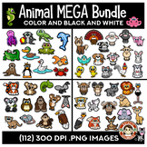 Animal Clip Art Mega Bundle | Aquatic, Farm, Forest & Wild Animals Clipart