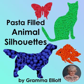 Animal Clip Art in Pasta Freebie