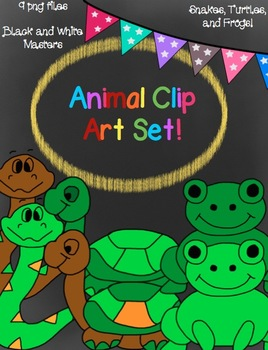 Animal Clip Art Set- Black and White Master Included!