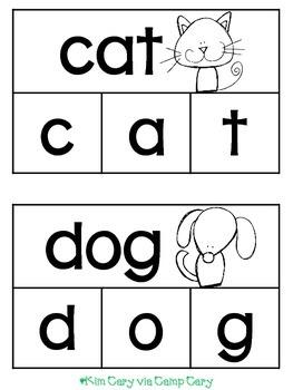 Animal Clip Cards