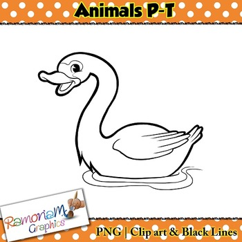 Animals Clip art Letters P-T