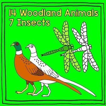Animal Clipart: Arctic, Insect, Farm, Ocean, Woodland, Zoo