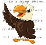 Animal Clipart - Cartoon Bald Eagle