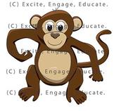 Animal Clipart - Cartoon Cheeky Monkey