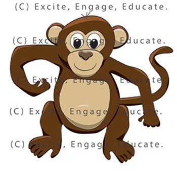 Animal Clipart - Cartoon Cheeky Monkey