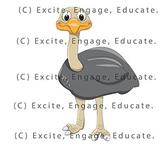 Animal Clipart - Cartoon Emu