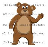 Animal Clipart - Cartoon Grizzly Bear