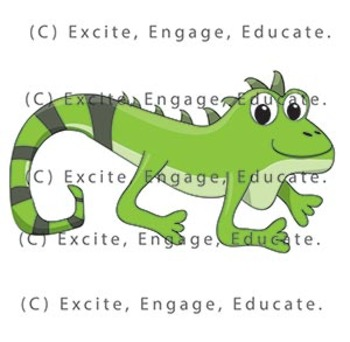Animal Clipart - Cartoon Iguana