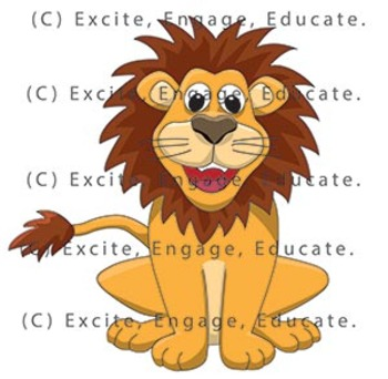 Animal Clipart - Cartoon Lion