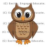 Animal Clipart - Cartoon Owl