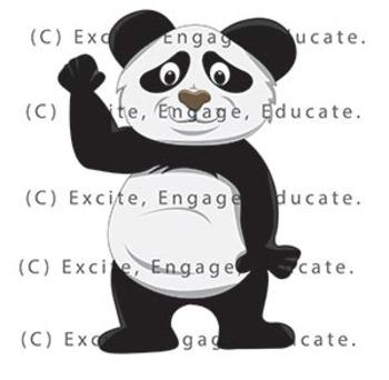 Animal Clipart - Cartoon Panda