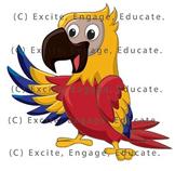 Animal Clipart - Cartoon Parrot